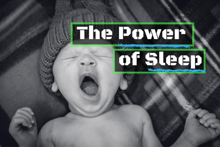 A baby yawning.